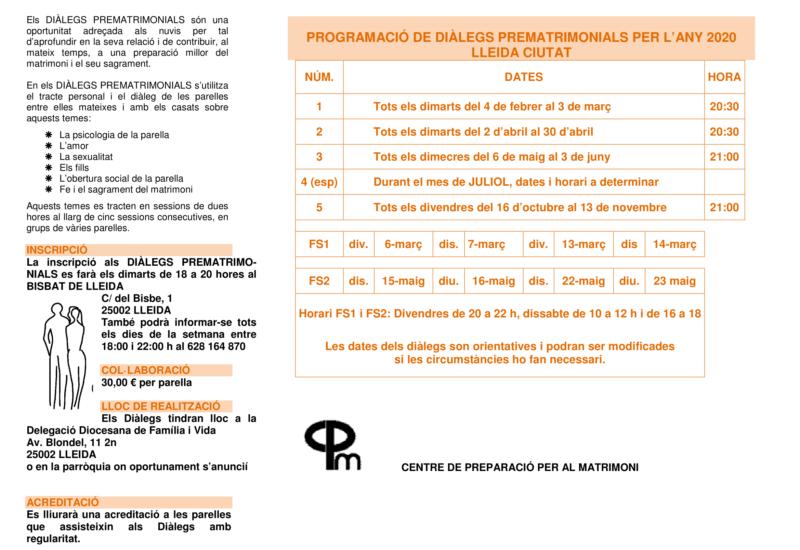 FULLETÓ CALENDARI DIÀLEGS PREMATRIMONIALS 2020_0001